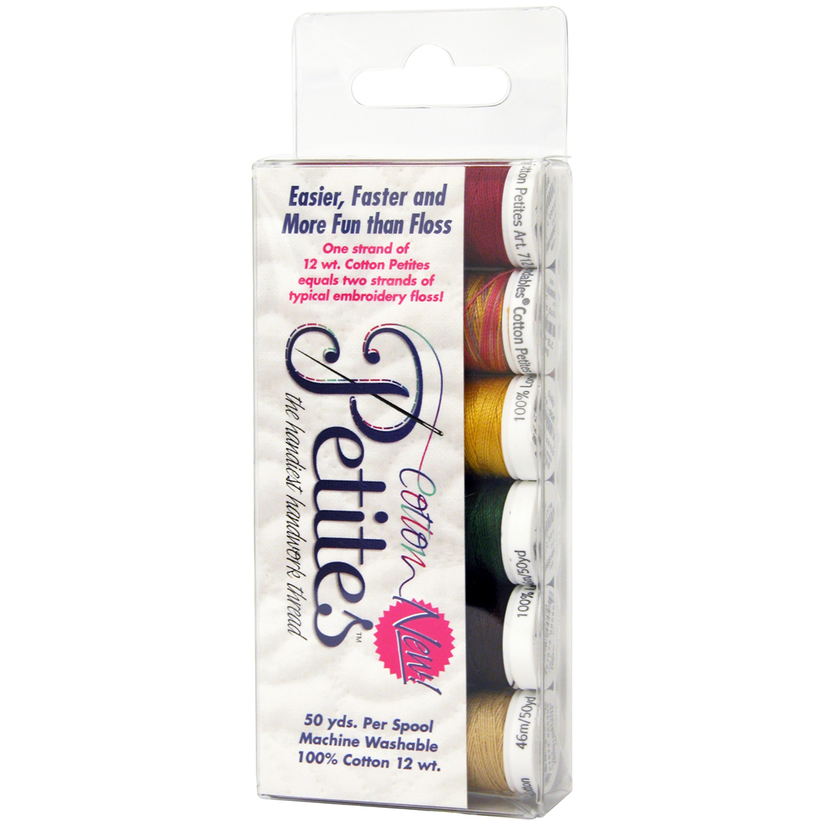 Sulky Sampler 12wt Cotton Petites 6/Pkg-Autumn Assortment
