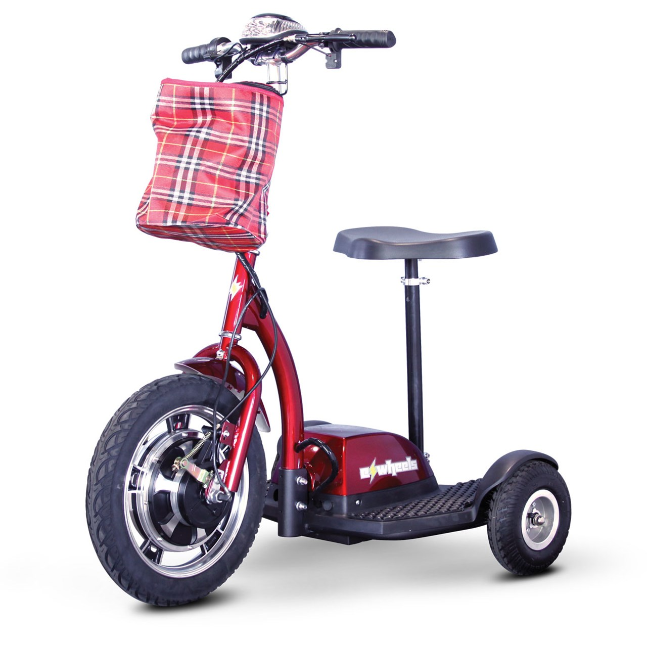 E-Wheels EW-18 400W Adult Sit/Stand Electric Mobility Scooter, Red