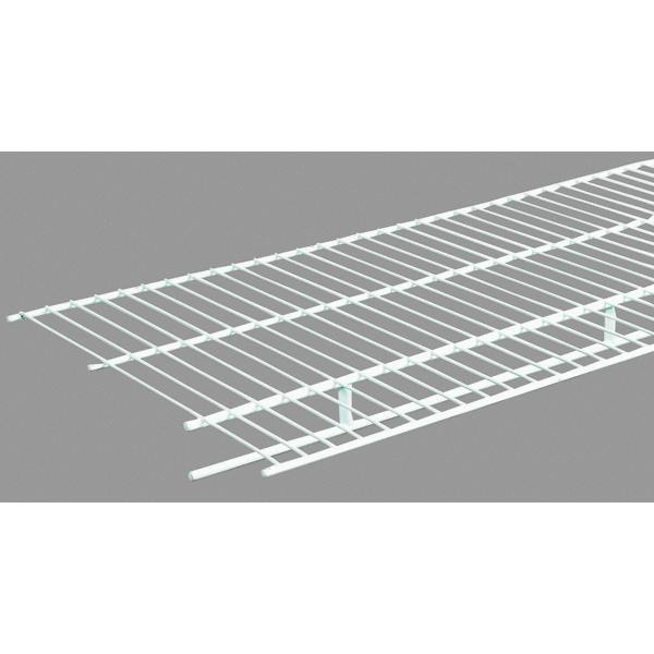 Closetmaid 12' Lengths Of Shelf And Rod Wire White Closet...