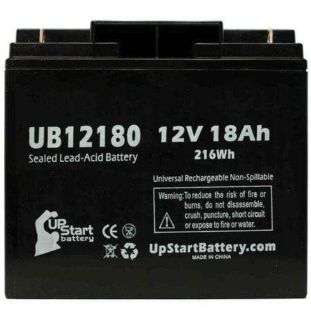 4x Pack - Alpha CFR2500 Battery Replacement - UB12180 Universal Sealed Lead Acid Battery (12V, 18Ah, 18000mAh, T4 Terminal, AGM, SLA) - image 2 de 4