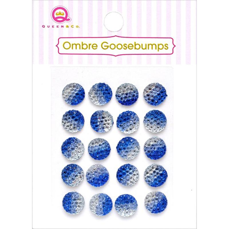 Queen & Co Ombre Goosebumps 7mm Self-adhesive 20/pkg-blue