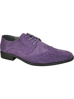 66d60fcfbd6 Product Image BRAVO KING-3 Dress Shoe Classic Faux Suede Oxford Leather  Lining Purple