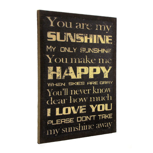 Wilco Home ''Inspire Me'' ''You Are My Sunshine'' Framed Textual Art
