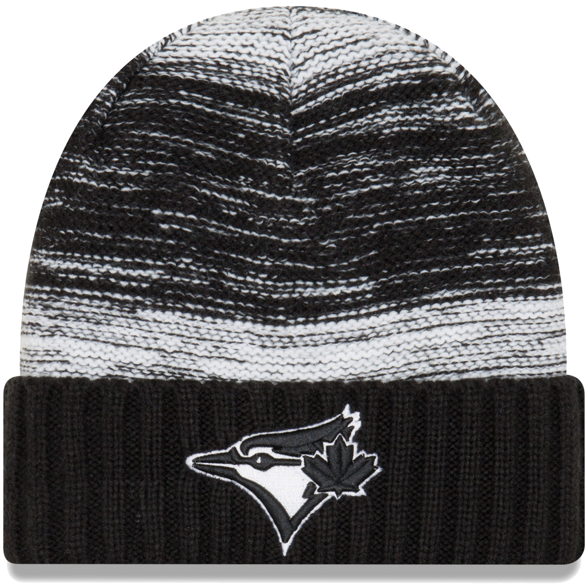 Toronto Blue Jays New Era Team Snug Cuffed Knit Hat - Black/White - OSFA
