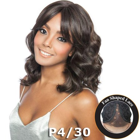 Brown Sugar Human Hair Blend Bang Lace Wig - BSB03 CLOVER