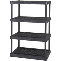 Contico 36 x 18 x 54 Inches 4 Tier Resin Outdoor and Garage Storage Shelf, Black
