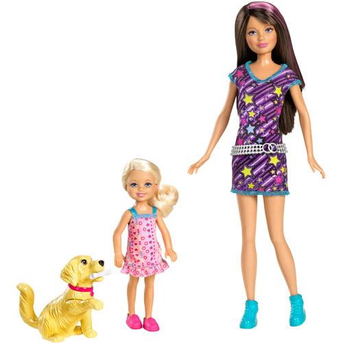 Barbie Sisters Skipper And Chelsea Sisters Train Taffy Pack