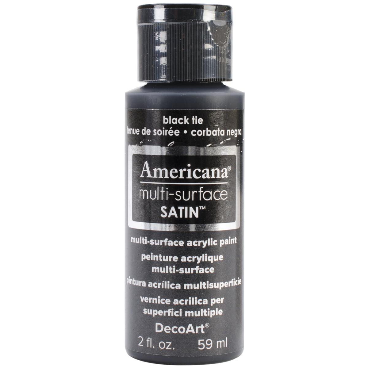 Americana Multi-Surface Satin Acrylic Paint 2oz-Black Tie