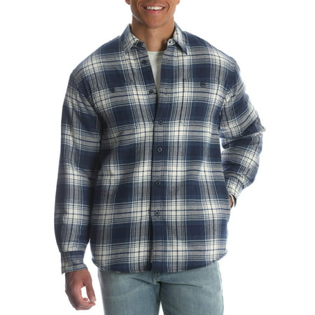 Autumn Flannel Autumn Flannel - Men's and Men's Big Sherpa Lined Flannel Shirt, up to Size 3XL