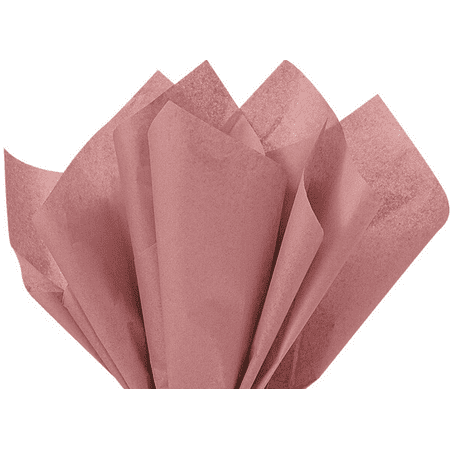 100 Sheets Antique Rose Gold Gift Wrap Pom Pom Tissue Paper