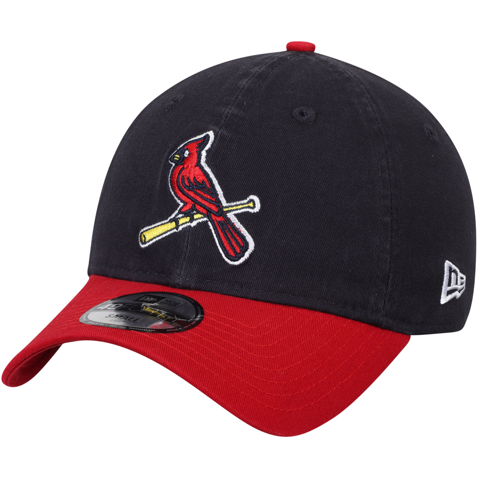St. Louis Cardinals New Era Core Fit Replica 49FORTY Fitted Hat - Navy/Red