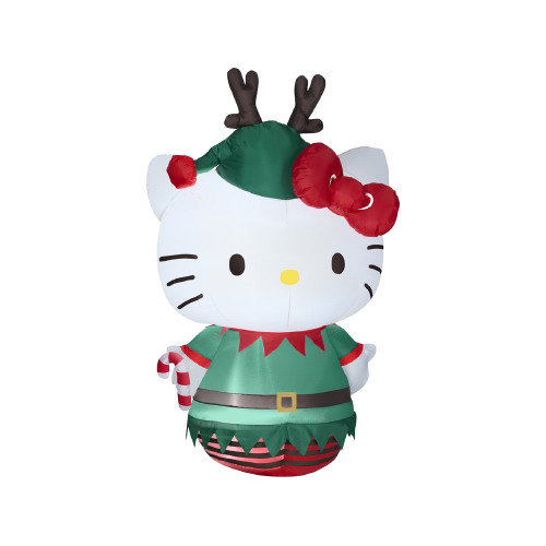 Gemmy Industries G08 86587X 5. 5 Ft.  Airblown Hello Kitty Dressed As An Elf