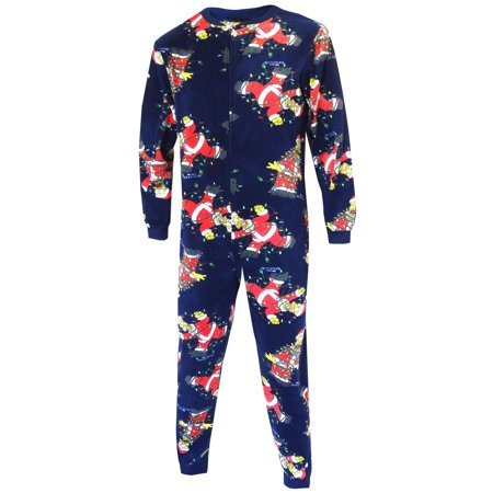 Tangle Free Thermal - Homer Simpson Tangled In Holiday Lights Fleece Onesie Union Suit