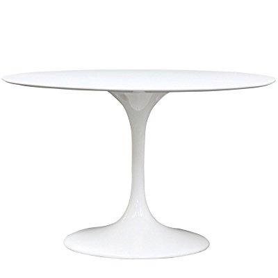Incredible Modway 48 Eero Saarinen Style Tulip Dining Table In White Andrewgaddart Wooden Chair Designs For Living Room Andrewgaddartcom