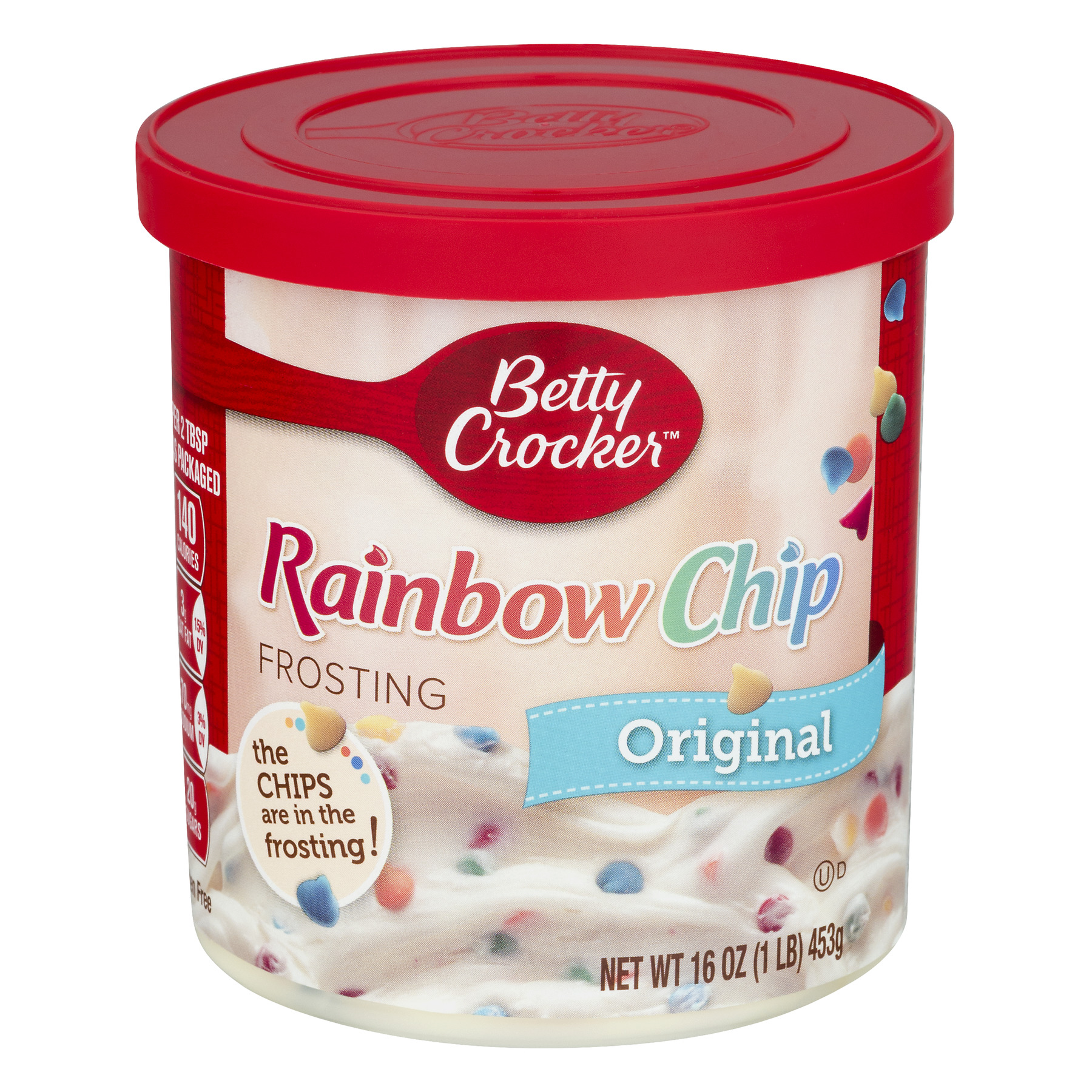 Betty Crocker�� Gluten Free Original Rainbow Chip Frosting 16 oz. Canister, 16.0 OZ