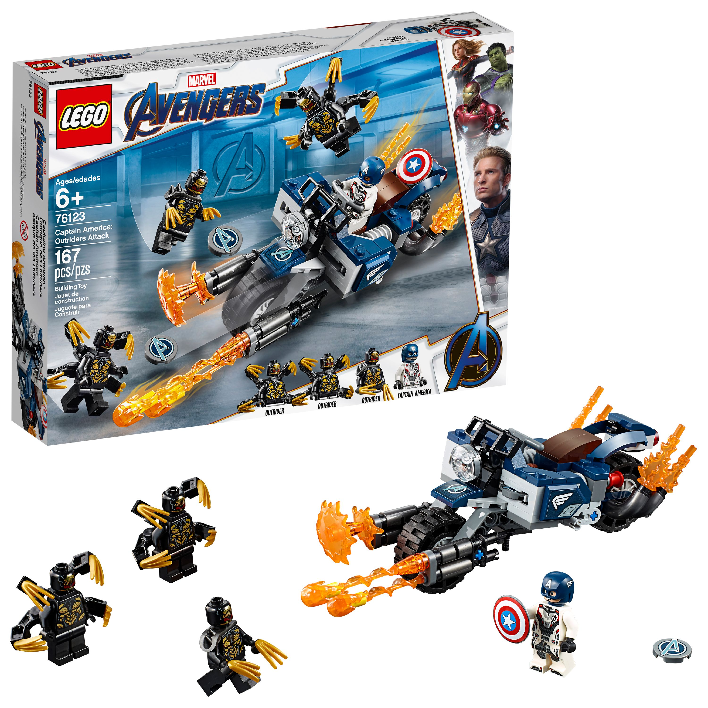 LEGO Marvel Avengers Captain America: Outriders Attack 76123