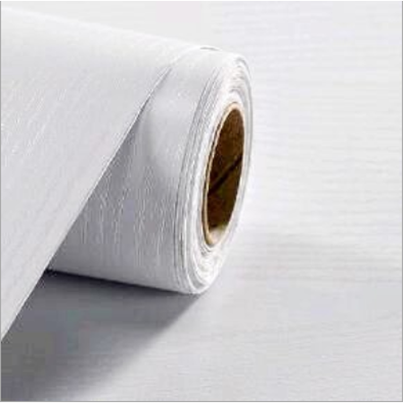 Extra Thick Faux White Textured Wood Grain Self Adhesive Wallpaper Wall Decor, 23.6