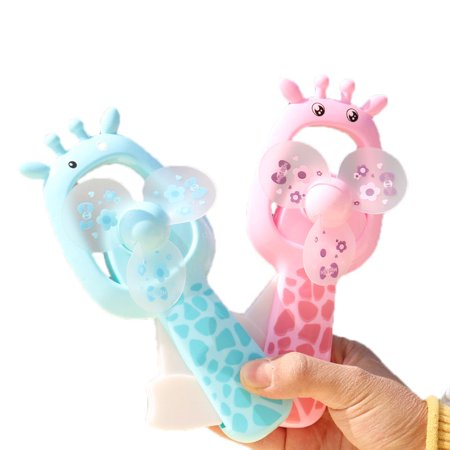 Portable Handheld Small Fan No Battery Operated Cartoon Animal Palm Mini Fan Toy & Gift](Palm Fans)
