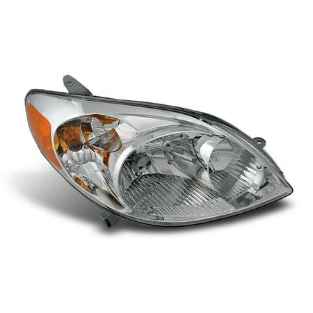 Fits 03-08 Toyota Matrix Amber Clear Headlights Passenger/Right Side Replacemnet 04 Toyota Matrix Headlight