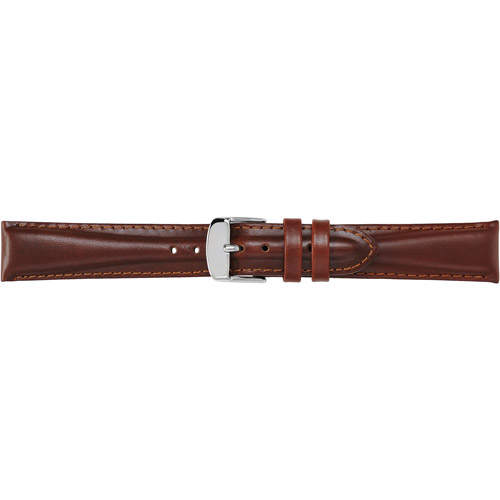 Timex Men's 18mm Padded Oiled Genuine Leather Replacement Watch Band, Brown