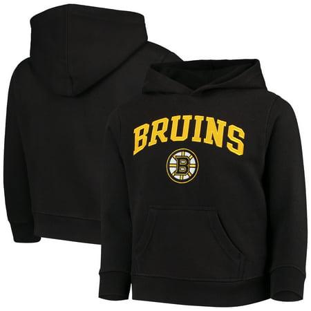 Team Logo Pullover (Youth Black Boston Bruins Team Logo Pullover Hoodie)