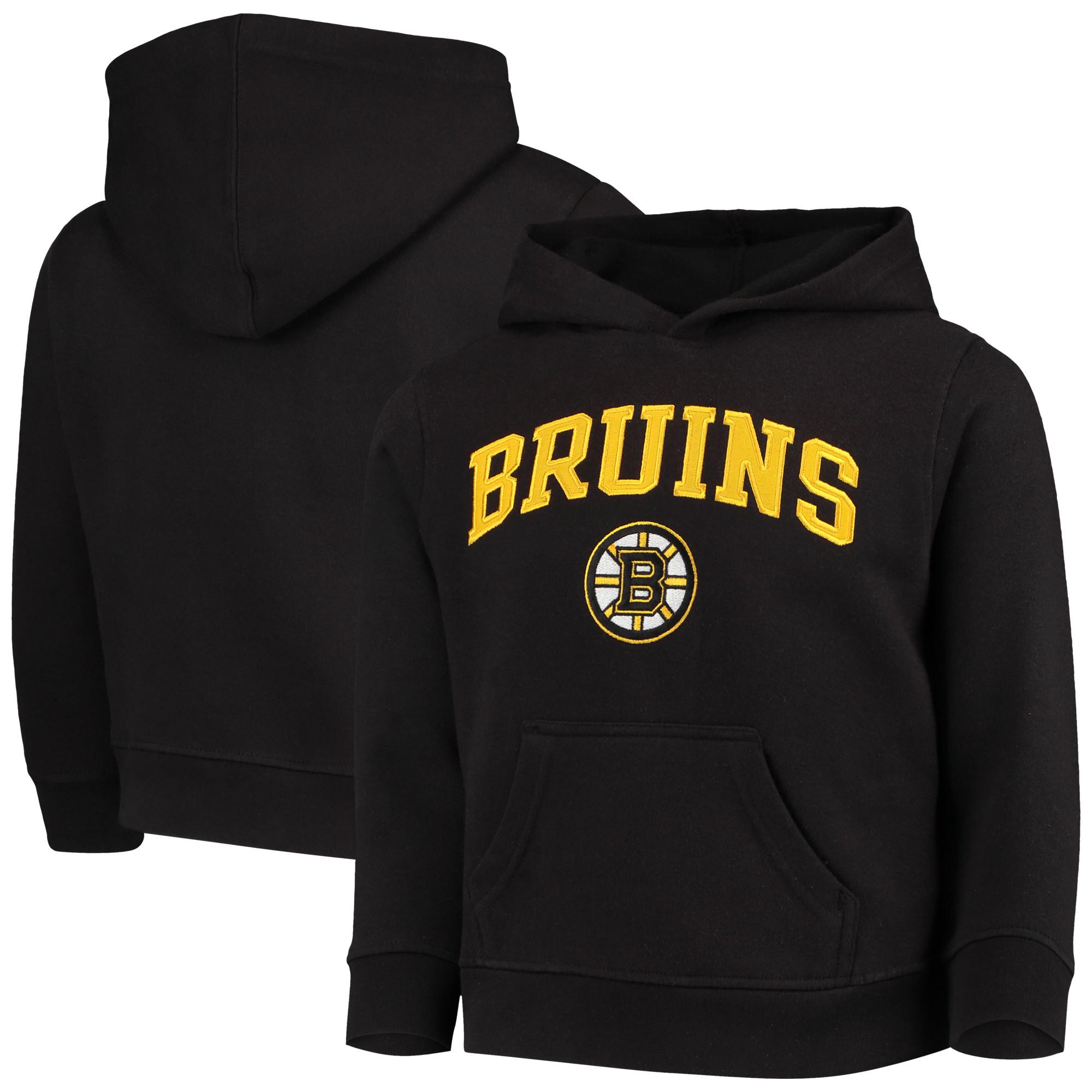 Youth Black Boston Bruins Team Logo Pullover Hoodie