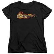 Constantine Logo In Flames Womens Short Sleeve Shirt