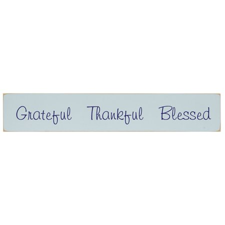 Thankful Grateful Blessed (Grateful Thankful Blessed Wooden Wall Plaque - 3.5