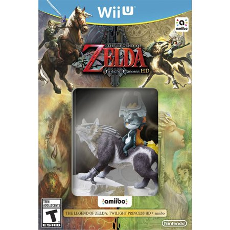 Legend of Zelda Twilight Princess HD with Wolf Link / Midna amiibo (Wii U)