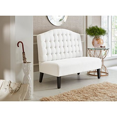 Sofaweb.com Ivory Tufted Upholstered Banquette Bench