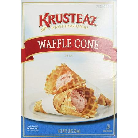 6 PACKS : Krusteaz WAFFLE CONE Mix 5lb (2 Bags) Restaurant Quality
