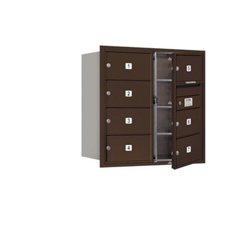 - Salsbury 3708D-07ZFP 4C Horizontal Mailbox Includes Master Commercial Lock - 8 Door High Unit - 30.50 Inches - Double Column - 7 Mb2 Doors - Bronze - Front Loading - Private Access