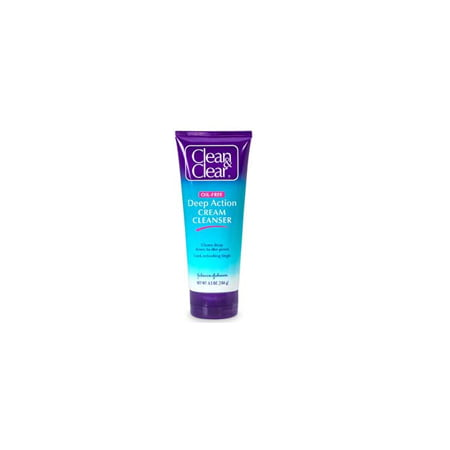 Clean And Clear Deep Action Cream Cleanser  Oil Free For Sensitive Skin   6 5 Oz  6 Pack