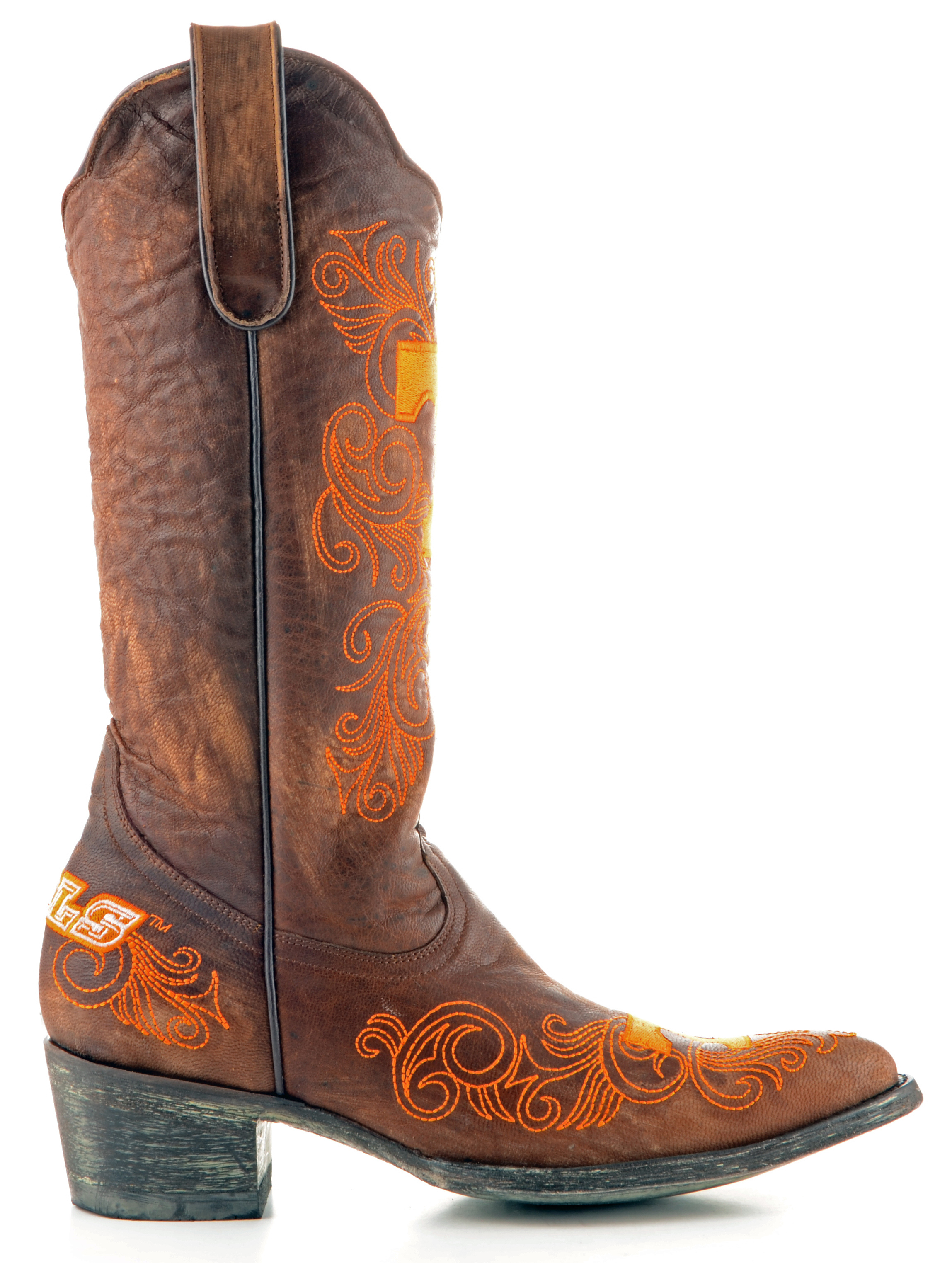 ncaa tennessee volunteers women's 13-inch gameday boots, brass, 5.5 b (m) us