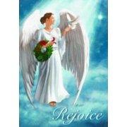 "Angel Rejoice Christmas House Religious  Flag 28"" x 40"""