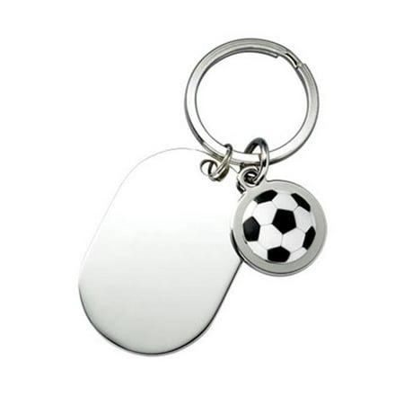 - Aeropen International K-115 Soccer Key Ring with Shiny Dog Tag in Black Gift Box