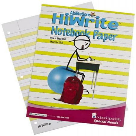Abilitations Hi-Write Intermediate Paper, Level 1, Pack of 100