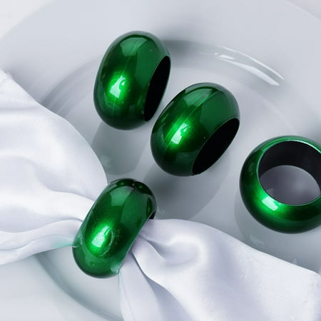Efavormart Acrylic Napkin Rings for Place Settings Wedding Receptions Dinner or Holiday Parties Family Gatherings - Set of 4 ()