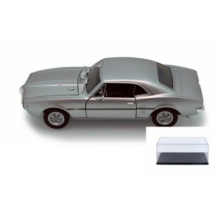 Diecast Car & Display Case Package - 1967 Pontiac Firebird, Silver - Welly 22502 - 1/24 scale Diecast Model Toy Car w/Display - Firebird 1967 Trunk