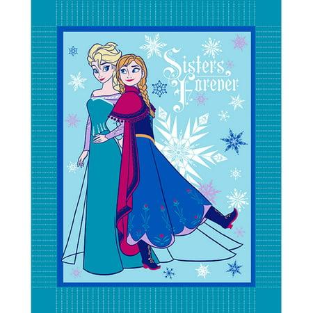 Disney Frozen Winter Magic Micro Fleece No Sew Throw Kit, Blue ()