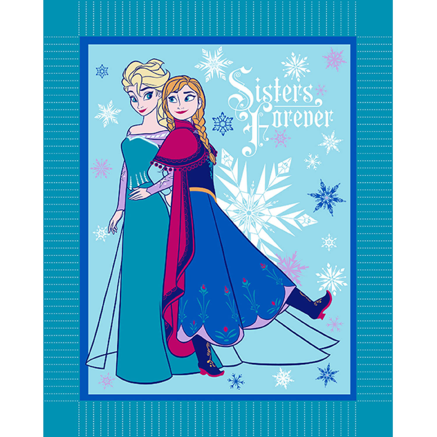 Disney Frozen Winter Magic Micro Fleece No Sew Throw Kit, Blue