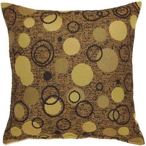 Fox Hill Trading Bubbly Olive 17-inch Throw Pillows (Set of 2)