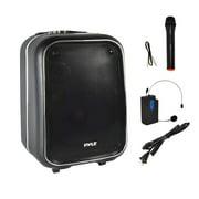 Pyle PWMA825BT - Portable PA Loudspeaker & Micro Kit - Stereo Radio Speaker with Karaoke Micro Ability, FM Radio, MP3/USB/Micro SD Readers