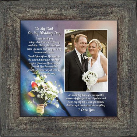 To My Dad on My Wedding Day, Father of the Bride Gifts, Daddy ...