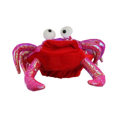 Marine Animal Hat Red Novelty Lobster Crab Seafood Costume Accessory Fish Cap (Lobster Hat)