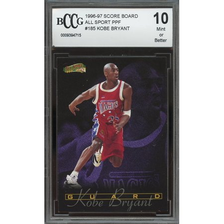 1996-97 score board all sport ppf #185 KOBE BRYANT lakers rooke card BGS BCCG 10