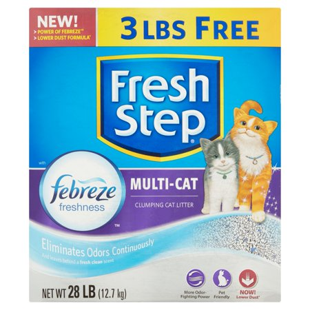 Fresh Step Multi Cat Clumping Cat Litter  28 Lb