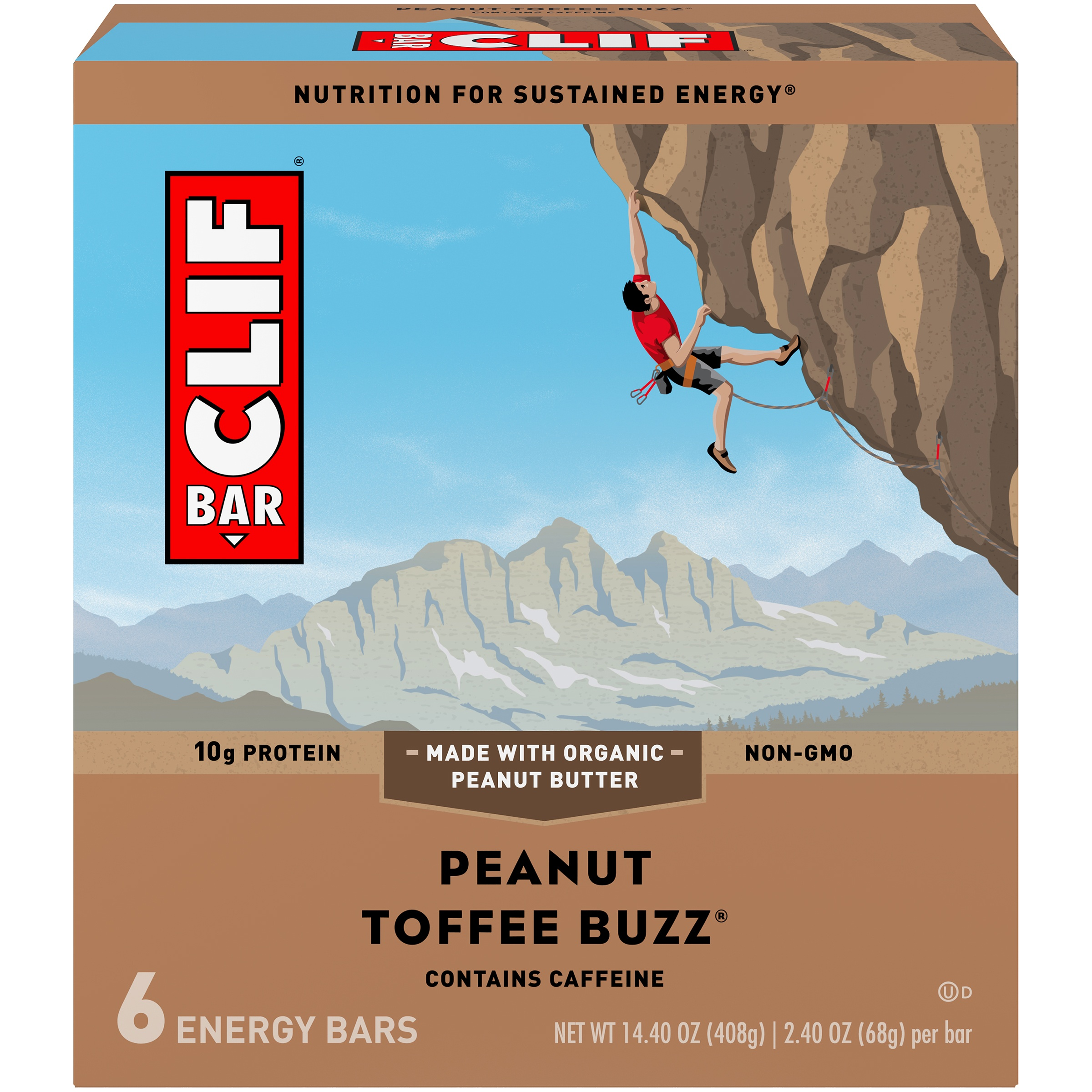 Clif Bar® Peanut Toffee Buzz® Energy Bars 6-2.4 oz. Bars