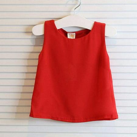 2 Piece Pleats Suit - Girls Vest Pleated Dress Two Pieces Set Clothes Skirt Suit RD/110