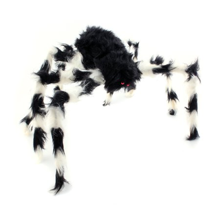 75CM Scary Bendable Realistic Fake Hairy Spider Plush Toys Halloween Party Decoration Prop Display, Random Color